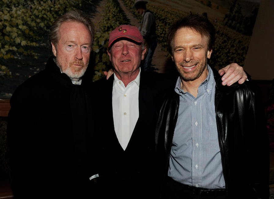 Directors Ridley Scott, Tony Scott and producer Jerry Bruckheimer at the after party of the California premiere of