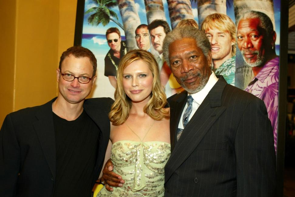 Gary Sinise, Sara Foster and Morgan Freeman at the Los Angeles premiere of