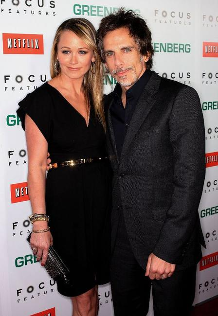 Christine Taylor and Ben Stiller at the California premiere of