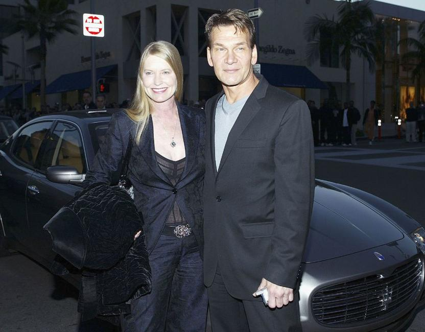 Lisa Niemi and Patrick Swayze at the Rodeo Drive Walk Of Style Awards.
