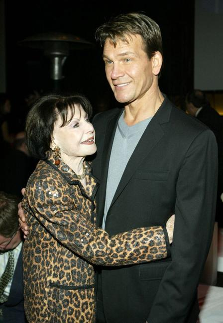 Shirley Ritts and Patrick Swayze at the Rodeo Drive Walk Of Style Awards.