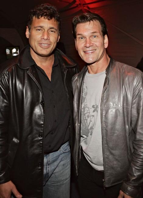Steven Bauer and Patrick Swayze at the after party of the premiere of