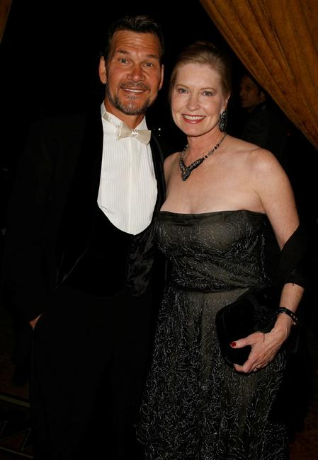 Patrick Swayze and Lisa Niemi at the 9th annual Costume Designers Guild Awards.