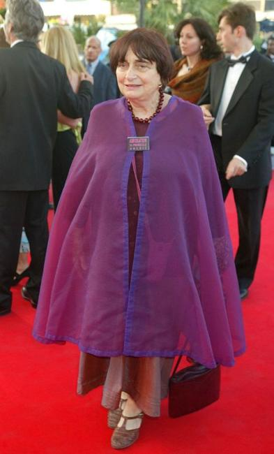 Agnes Varda at the premiere of