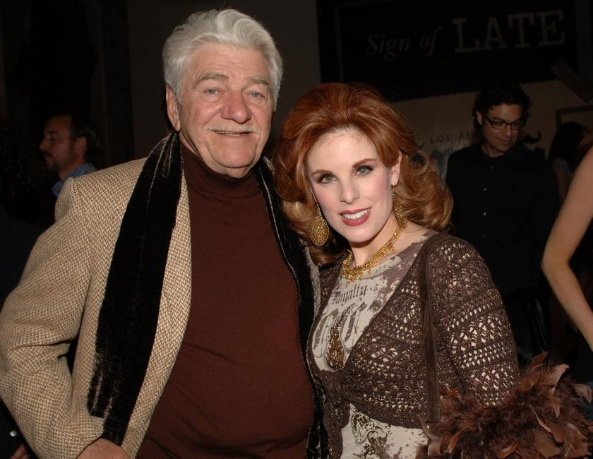 Seymour Cassell and Kat Kramer at the private opening of Dennis Hopper's