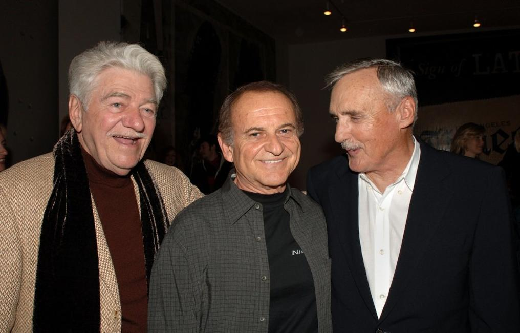 Seymour Cassell, Joe Pesci and Dennis Hopper at the private opening of Dennis Hopper's