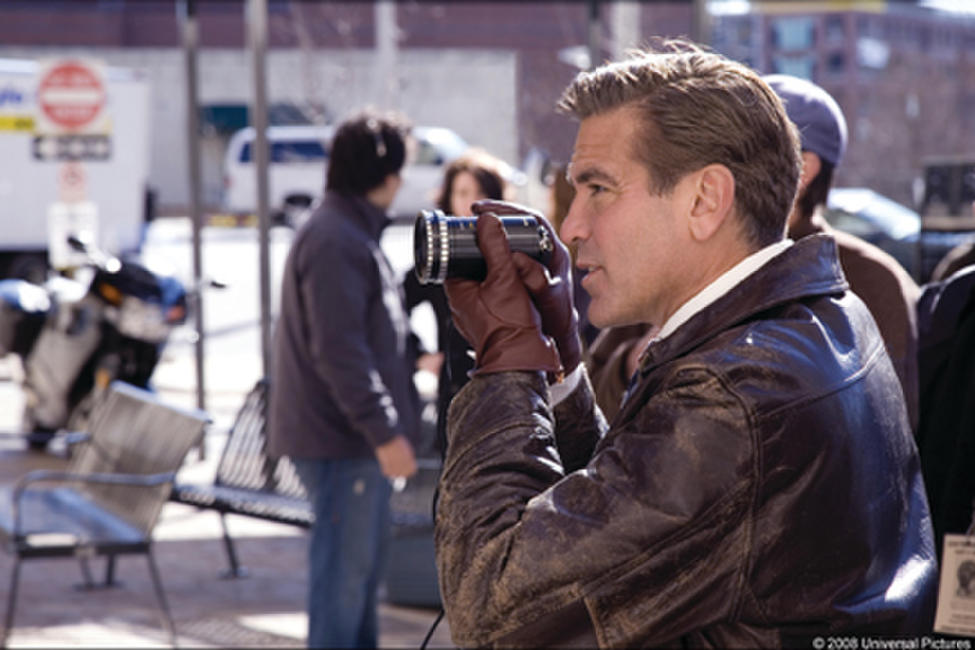 George Clooney on the set of