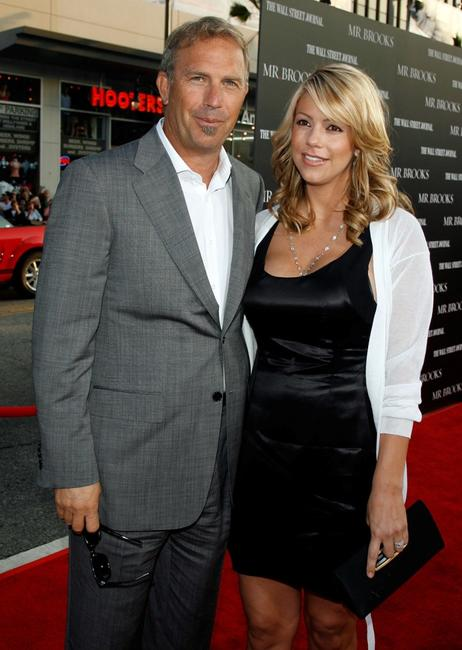 Kevin Costner and his wife Christine Baumgartner at the premiere of
