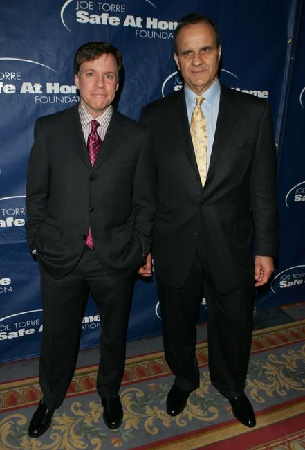 Bob Costas and Joe Torre at the Joe Torre Safe at Home Foundation 3rd annual gala.