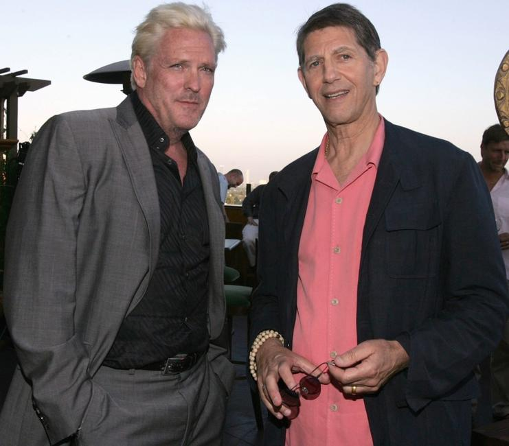 Peter Coyote and Michael Madsen at the launch party of The Complete Poetic Works Of Michael Madsen.