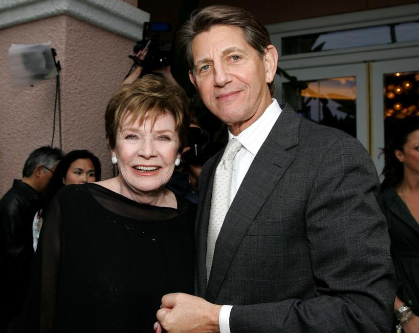 Polly Bergen and Peter Coyote at the celebration honoring Geena Davis as this year's Hollywood Hero.