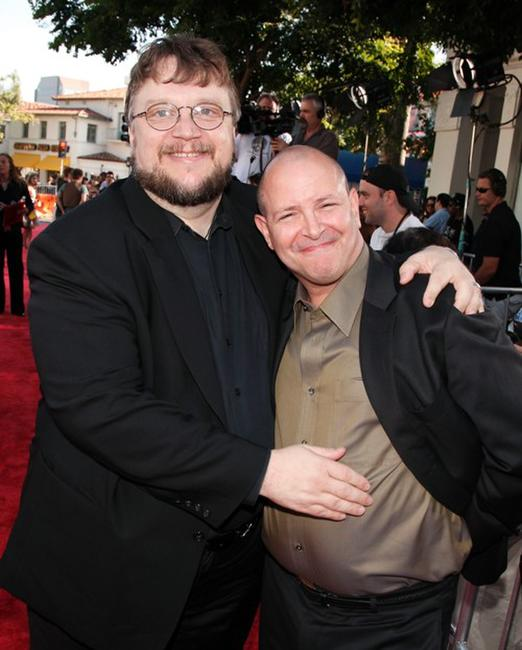 Guillermo del Toro and Mike Mignola at the world premiere of