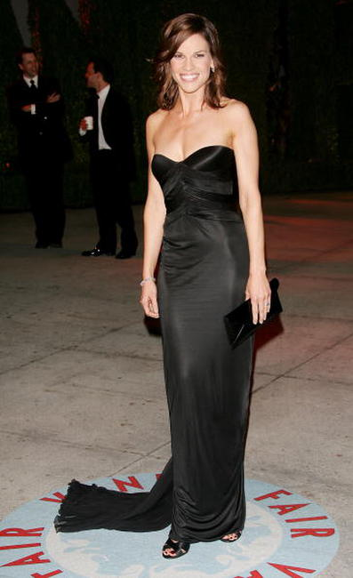 Hilary Swank at the Vanity Fair Oscar Party in West Hollywood.
