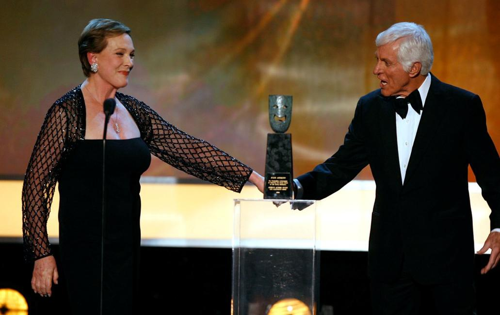 Julie Andrews at the 13th Annual Screen Actor Guild Awards accepts the Lifetime Achievement Award.