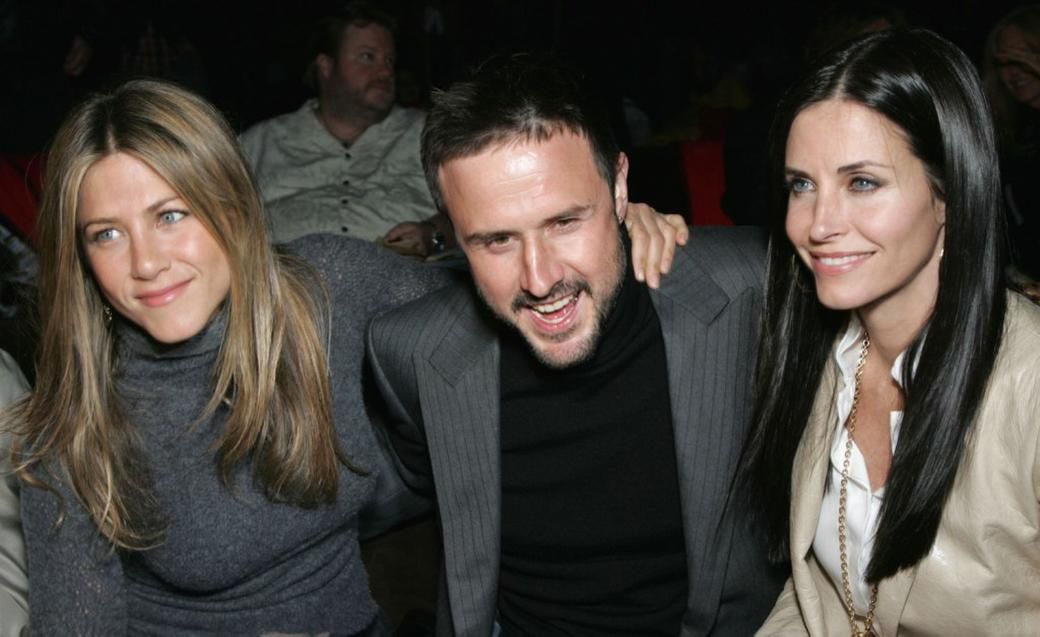 Jennifer Aniston, David Arquette and his wife Courtney Cox at the after party at the L.A.premiere for