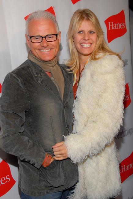 Michael Des Barres and Kristen Kline at the opening of Hanes' first limited engagement