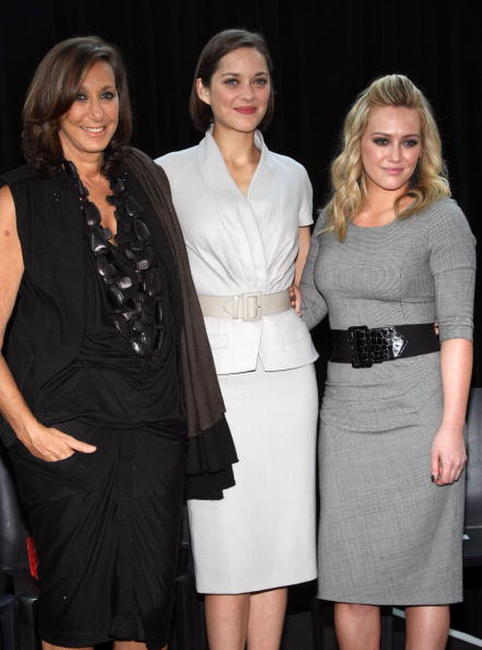 Donna Karan, Marion Cotillard and Hilary Duff at the Bike In Style challenge winner announcement and awards ceremony.