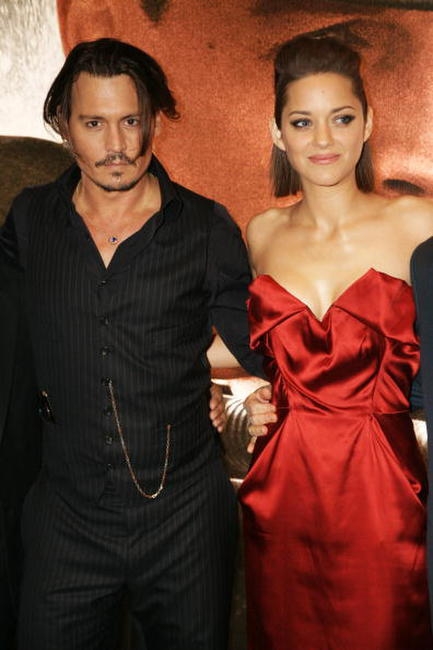 Johnny Depp and Marion Cotillard at the European premiere of