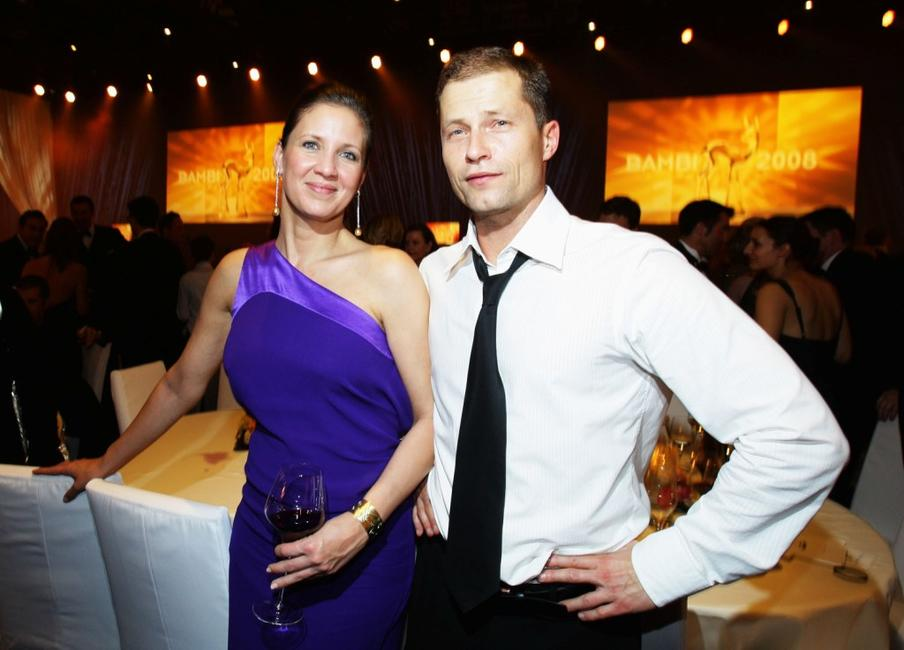 Til Schweiger and his wife Dana at the Bambi Awards 2008 Party.