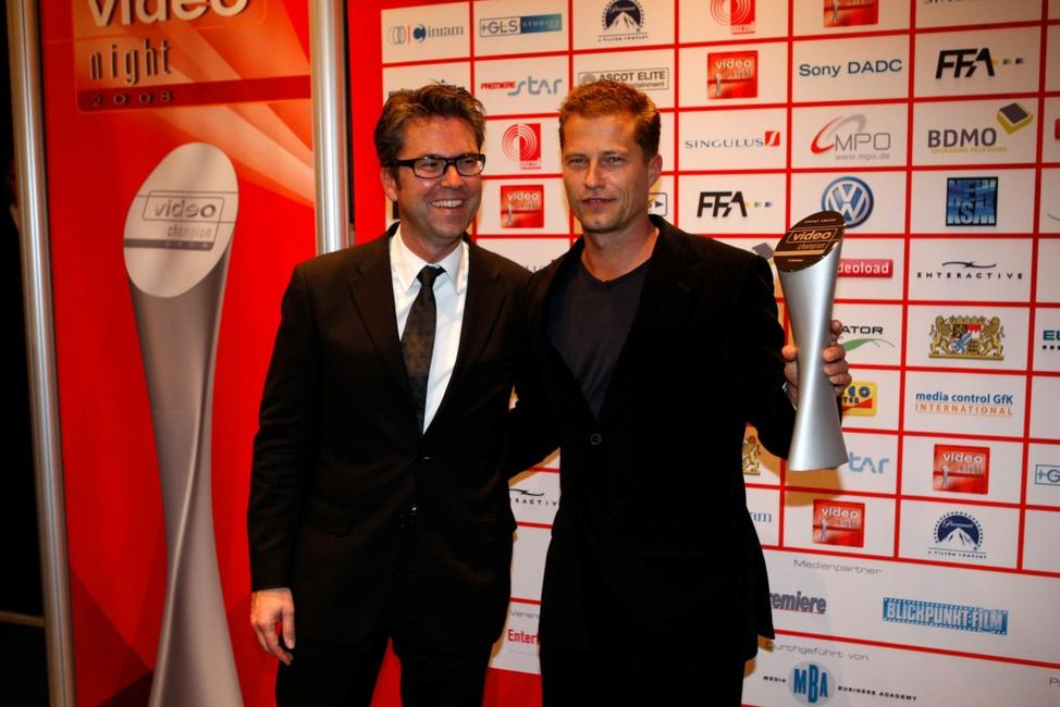 Ulrich Hscherl and Til Schweiger at the Video Night 2008.