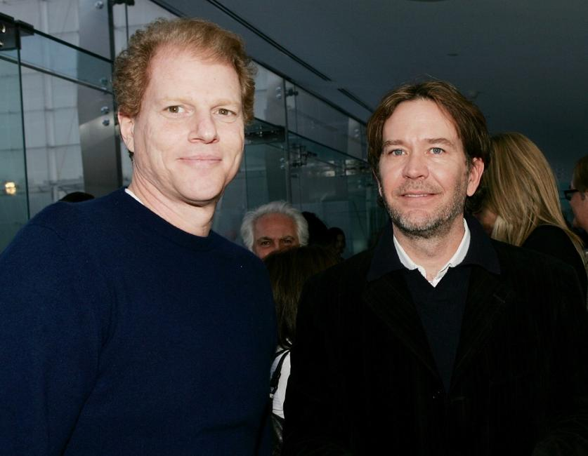 Noah Emmerich and Timothy Hutton at the after party premiere of