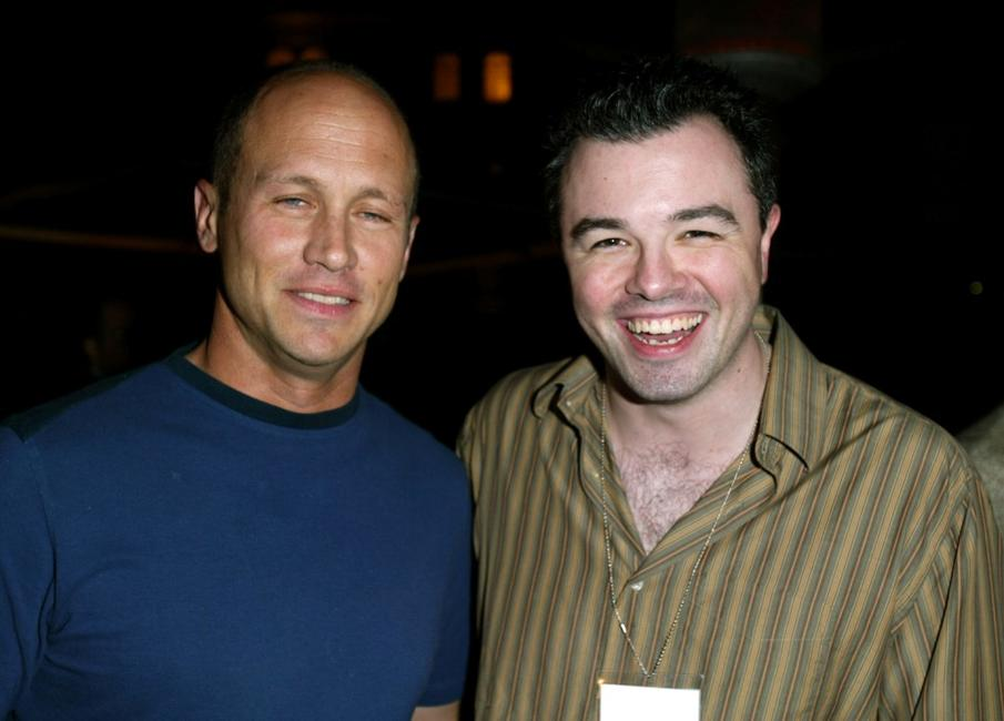 Mike Judge and Seth MacFarlane at the Twentieth Century Fox Television's New Season Party.