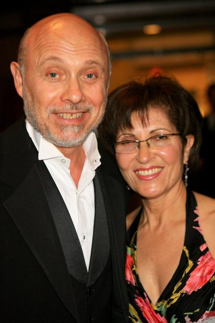 Hector Elizondo and guest at the cocktail party for the 35th AFI Life Achievement Award tribute to Sir Sean Connery held at the Kodak Theatre.