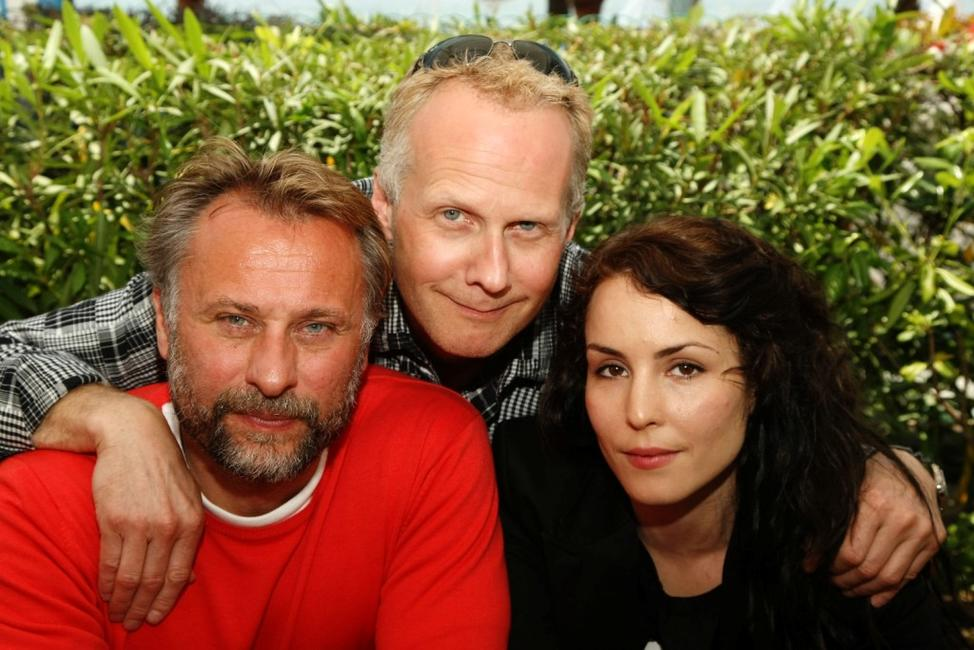 Michael Nyqvist, Niels Arden Oplev and Noomi Rapaceat the photocall of