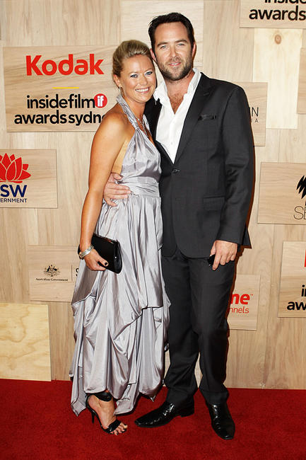 Jo Beth Taylor and Sullivan Stapleton at the 2010 Inside Film Awards in Australia.