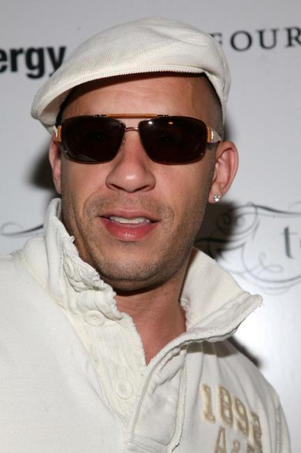 Vin Diesel at the birthday celebration for Eugene Remm and Mark Birnbaum.