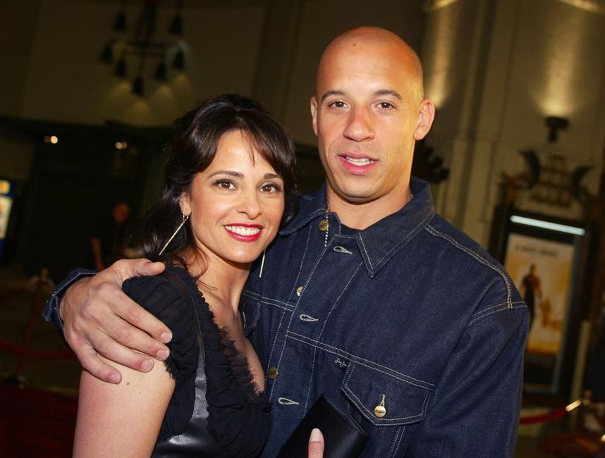 Jacqueline Obradors and Vin Diesel at the premiere of