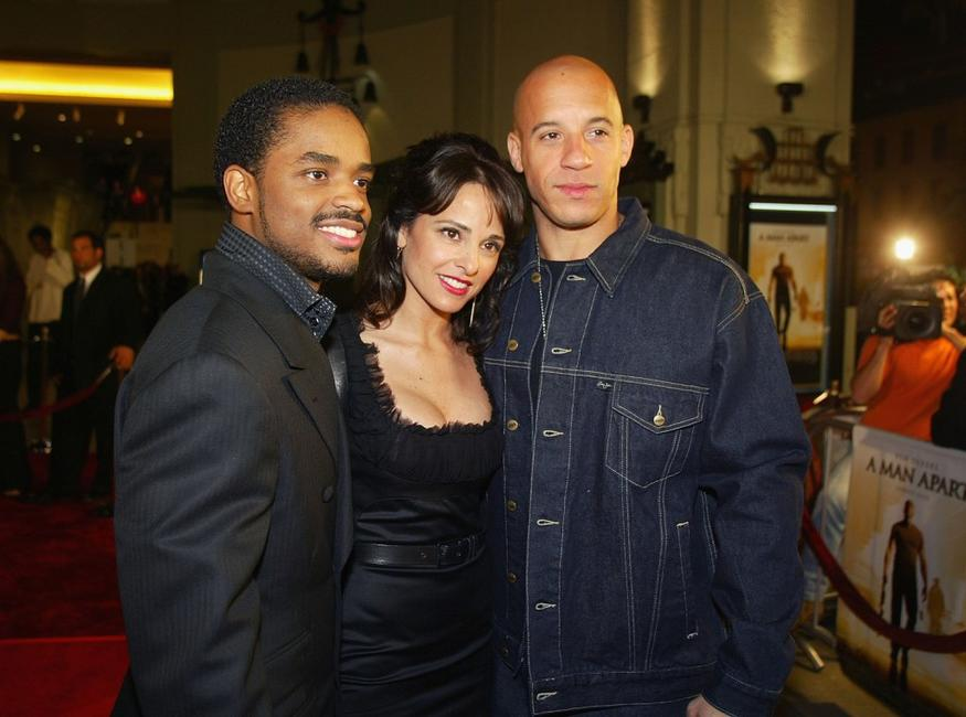 Larenz Tate, Jacqueline Obradors and Vin Diesel at the premiere of
