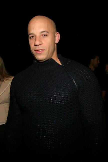 Vin Diesel at the Giorgio Armani Spring/Summer 2005 Fashion Show.