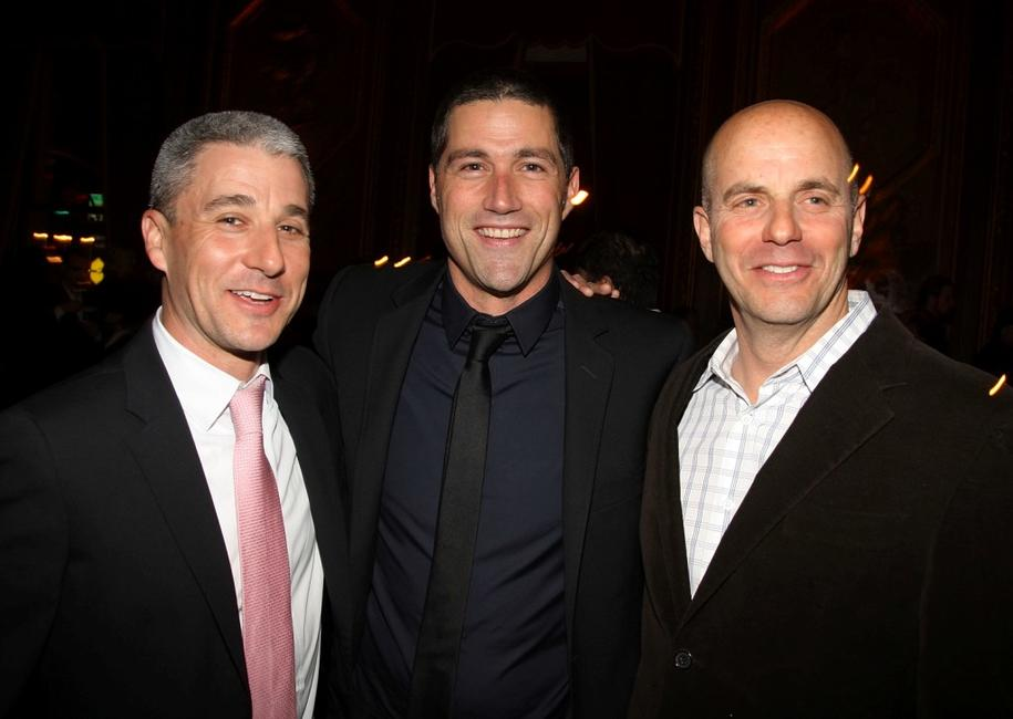 Matt Tolmach, Matthew Fox and Neal H. Moritz at the after party of