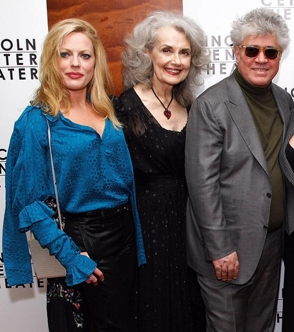Sherie Rene Scott, Mary Beth Peil and Director Pedro Almodovar at the after party of the opening night of