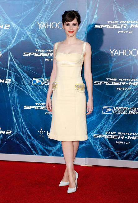 Felicity Jones at the New York premiere of