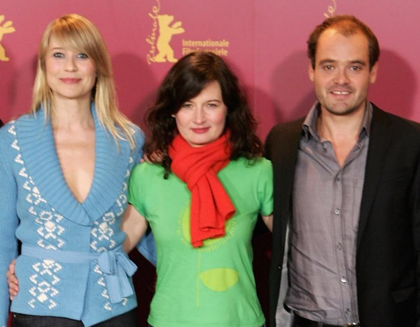 Trine Dyrholm, Pernille Fischer Christensen and David Dencikat the press conference of