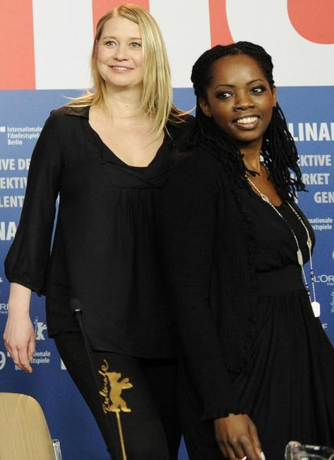 Trine Dyrholm and Lorna Brown at the press conference of