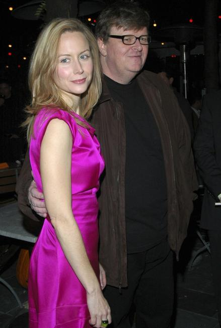 Megan Dodds and Michael Moore at the after party of the opening of