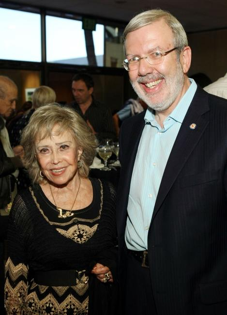 Leonard Maltin and June Foray at the AMPAS' 14th Annual Marc Davis Celebration of Animation.