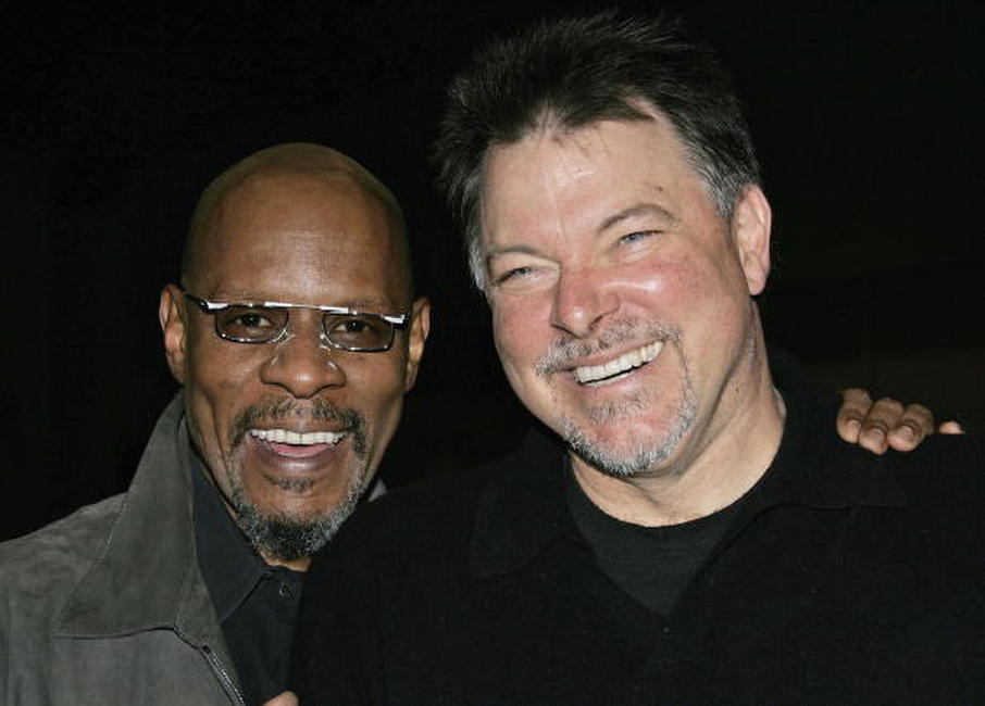 Avery Brooks and Jonathan Frakes at the Creation Entertainment's Grand Slam XIV: The Sci-Fi Summit.