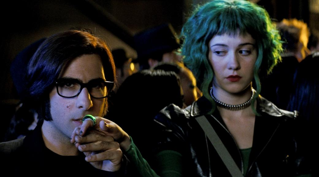 Jason Schwartzman as Gideon Gordon Graves and Mary Elizabeth Winstead as Ramona Flowers in