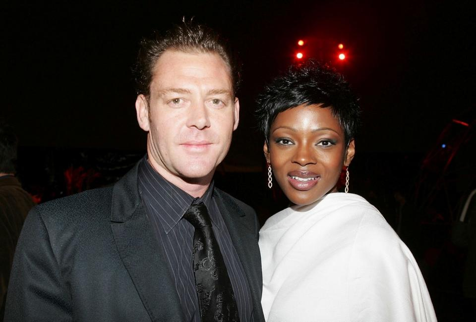 Marton Csokas and Caroline Chikezie at the after party of