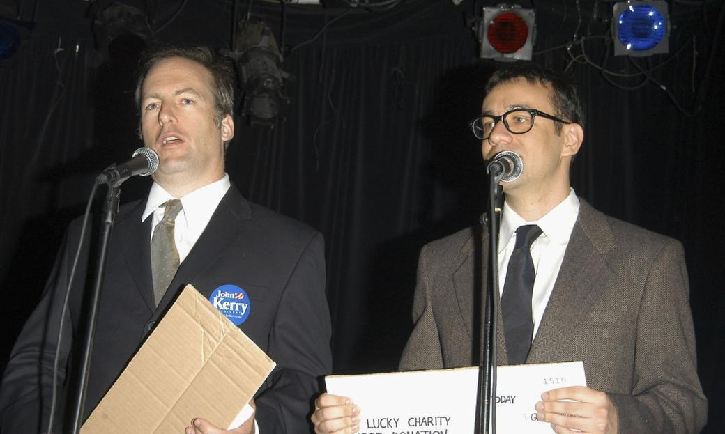 Bob Odenkirk and Fred Armisen perform at Comedy For Kerry.