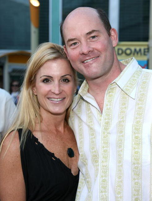 Leigh Koechner and David Koechner at the premiere of
