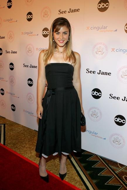 Caitlin Wachs at the inaugural ball and premiere of