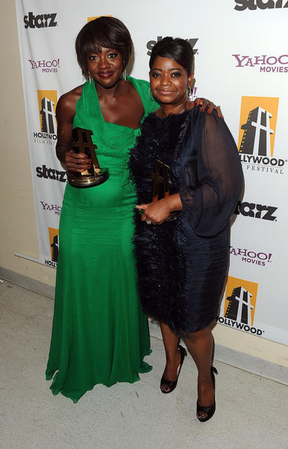 Viola Davis and Octavia L. Spencer at the 15th Annual Hollywood Film Awards Gala in California.