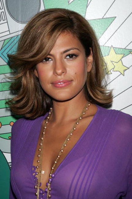 Eva Mendes at MTV TRL.