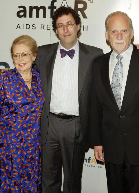 Dr.Mathilde Krim, Tony Kushner and Jerome Radwin at the 5th Annual AmFAR Honoring with Pride Gala.