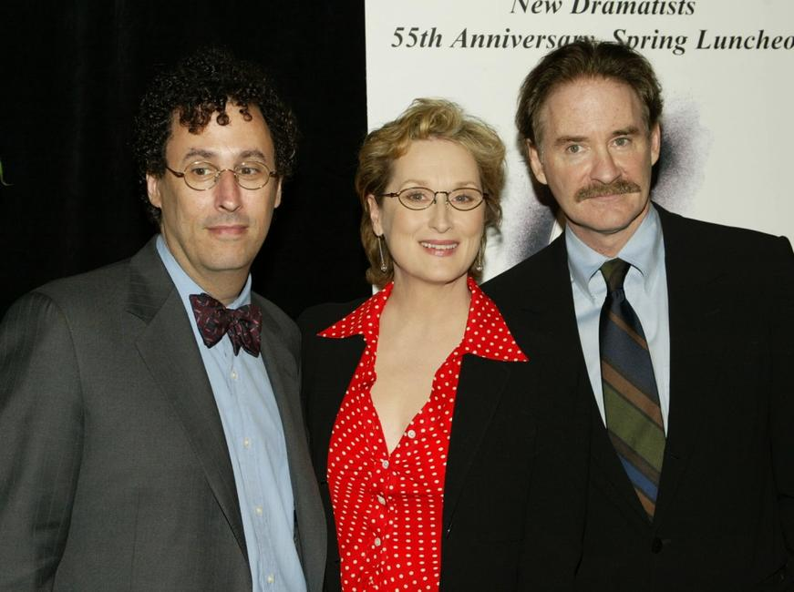 Tony Kushner, Meryl Streep and Kevin Kline at the 55th Annual New Dramatists Benefit Luncheon.